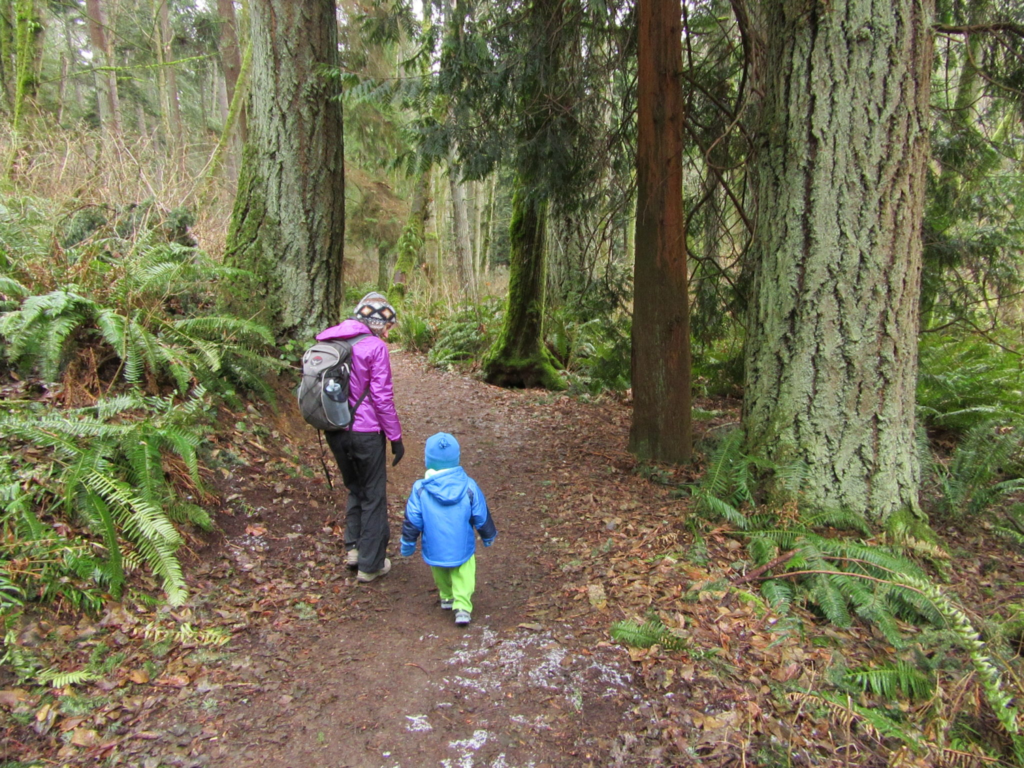 A pair of hikers head deep into the Big Gulch.